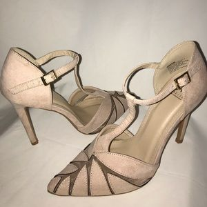 MADISON Linette Nude Suede Heels